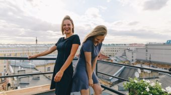 Campaign Weekend by Seainside - Fashion campaign for Seainside wear. Made on the rooftop in St Peterburg, Russia.
